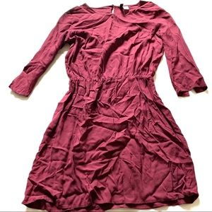 Divided H&M burgundy casual dress size 4